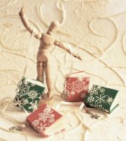 Miniature book christmas ornam by liesan
