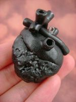 Black Coal Heart - Back by monsterkookies