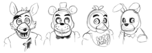 FNAF Crew by limegreenleaf
