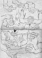 Hands study - Etude mains by PitGraf
