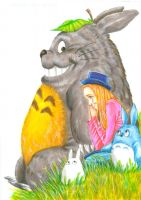 Totoro and Connie by Hognatius