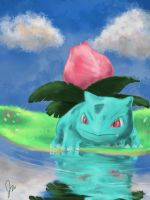 Ivysaur by the water by Alleforte