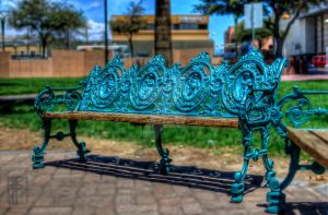 DownTown Park Bench by 13Alchemist