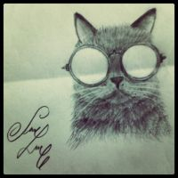 hipster cat by JessikSmile