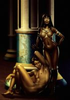 Cleopatra and Anthony by Markovah