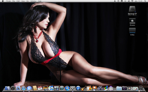 Desktop Mac Os X Denise Milani by K1NGMAC