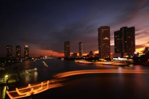 Saphan Taksin Sunset by comsic