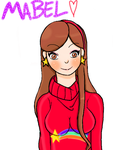 [3DS] Mabel - Gravity Falls by OtakuElxFanArt