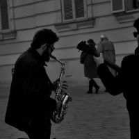 sax solo by GrinningPhD
