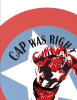 Cap Was Right Poster by curioyegg