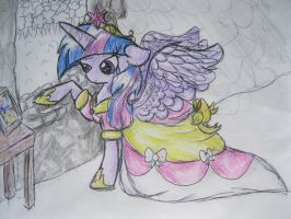 Princess Twilight- WiP by flufffur