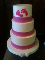 3 Tiered Baby Shower cake by Spudnuts