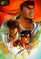 Ryu Street Fighter Anniversary by Modestoru