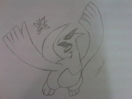 Lugia vs Celebi by Forze9dark