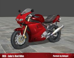 RE6 Jake's Red Bike by Adngel