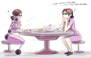 TF2: Miss Pauling + Robo Pauling by DarkLitria