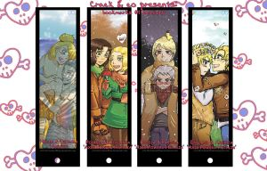 Crack'no'co.Bookmarks- seasons by LittleLadyPunk
