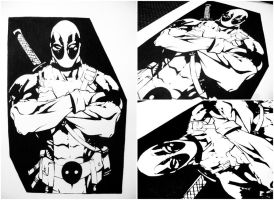 DEADPOOL ( first try - comics character ) by AliceRossi