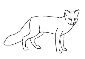 Standing Fox - LineArt by Harry-Potter-Addict