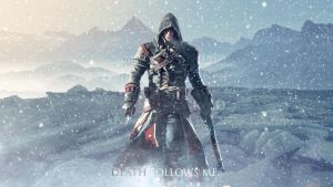 Assassins Creed Rogue - Death Follows Me (Wallp) by mastersebiX
