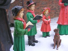 Snow Caroler Statues 1 by OsorrisStock