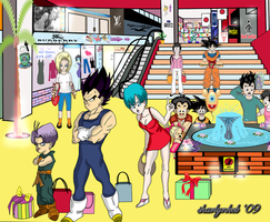 DBZ at the Mall by sharlynkcb
