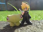 Cloud and his Turtle by FunkySockzLover