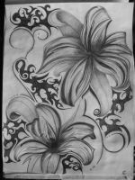 black n white lily by forgottenMunin