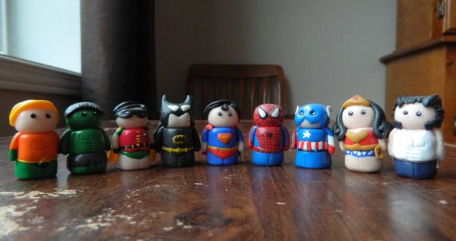 Superhero Mini Figures by Tabitha-Habitat