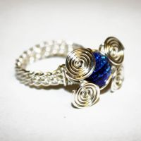 Wire Weaved Glass Ring 4SALE by Create-A-Pendant