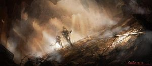 Running Through the Dust by Concept-Art-House