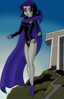 Bruce Timm's Raven by AtlasMaximus