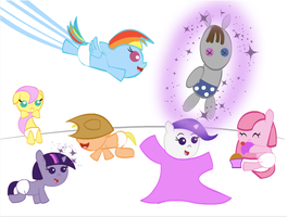 MLP FiM: Mane 6 Foals by RaltheCommentator