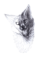 Unfinished Fox Says Hi by killerlepord