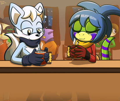 Warmth on a cold day by Feline-gamer
