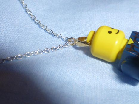 Lego Man Necklace 2 by Duck-With-No-Name