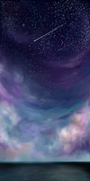 Night Sky by levimochi