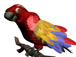 Scarlet Red Macaw by Tebyx