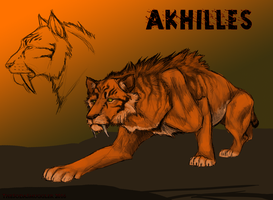 Akhilles Design Sketch by TheSodaSmuggler