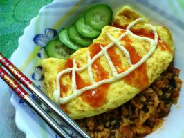 omurice for dinner by plainordinary1