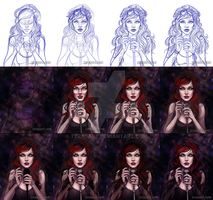 When I Sing...  Process by tbdoll