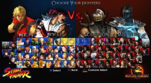 SF Vs. MK: Character Selection by 1KamZ