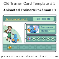 Old Trainer Card Template 1 by pwassonne