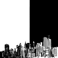 City of Black and White by IfreakenLoveDrawing