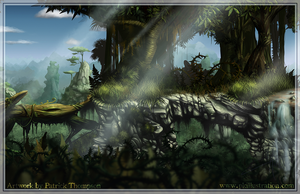 Jungle 2D Parallax  Platformer Level by patthompson008
