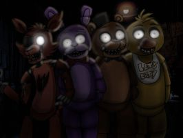 Five Nights at Freddy's by love-me-drowned