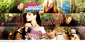 Love Is the Drug banners by mia47