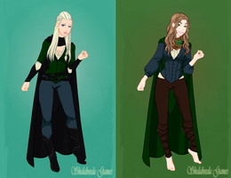 Legolas and Pippin gender-bender by ScenePika