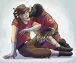 TF2- Pyro x Scout by MadJesters1