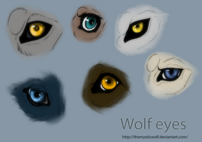 Wolf eyes by TheMysticWolf